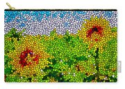 Stained Glass Sunflowers Carry-all Pouch