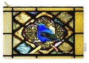Stained Glass Template Blue Bird Of Happiness Carry-all Pouch