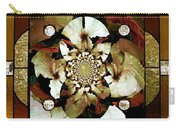 Stained Glass Template Sepia Flora Kalidescope Carry-all Pouch