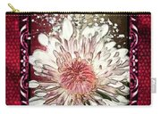 Stained Glass Template White Chrysanthemum Carry-all Pouch