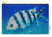 Stained Glass Underwater Fish Carry-all Pouch