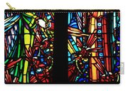 Stained Glass Window At Mont  Le Saint-michel Carry-all Pouch