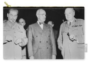 Stalin Truman And Churchill  Carry-all Pouch