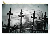 Standing Guard By Loved Ones - Bw Texture Carry-all Pouch