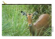 Standing In The Grass Impala Antelope  Carry-all Pouch