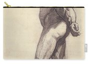 Standing Male Nude Carry-all Pouch by Felix Edouard Vallotton