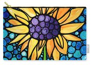 Standing Tall - Sunflower Art By Sharon Cummings Carry-all Pouch by Sharon Cummings