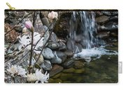 Star Magnolia And Flowing Water Carry-all Pouch