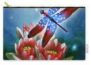 Star Spangled Dragonfly Carry-all Pouch