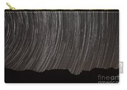 Star Trails Above A Valley Carry-all Pouch by Amin Jamshidi