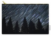 Star Trails And Pine Trees Carry-all Pouch
