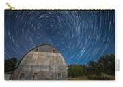 Star Trails Over Barn Carry-all Pouch by Paul Freidlund