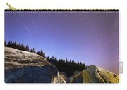 Star Trails Over Rocks In Saguenay-st Carry-all Pouch