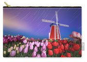 Star Trails Windmill And Tulips Carry-all Pouch
