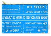 Star Trek Remembered In Blue Carry-all Pouch