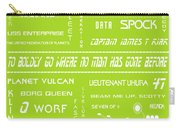 Star Trek Remembered In Green Carry-all Pouch by Georgia Fowler