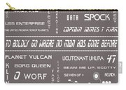 Star Trek Remembered In Grey Carry-all Pouch