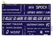 Star Trek Remembered In Navy Blue Carry-all Pouch by Georgia Fowler