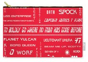 Star Trek Remembered In Red Carry-all Pouch