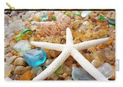 Starfish Art Prints Shells Agates Coastal Beach Carry-all Pouch