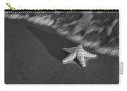 Starfish On The Beach Bw Carry-all Pouch