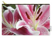 Stargazer Lily Flowers Closeup Carry-all Pouch