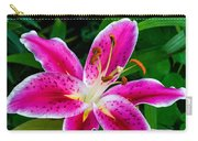 Stargazer Oriental Lily Carry-all Pouch
