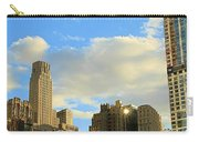 Manhattan Skyline Here Comes The Sun Carry-all Pouch by Dan Sproul