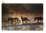 Starry Night Beach Horses Carry-all Pouch
