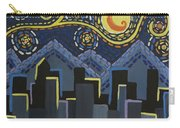 Starry Night Cityscape Carry-all Pouch