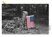 Stars And Stripes With Selective Color Carry-all Pouch