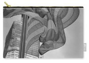 Stars And Stripes And 1 W T C In Black And White Carry-all Pouch