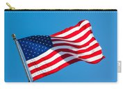 Stars And Stripes Waving Carry-all Pouch
