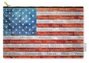 Stars And Stripes With States Carry-all Pouch