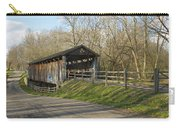 State Line Or Bebb Park Covered Bridge Carry-all Pouch by Jack R Perry