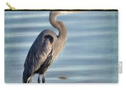Stately-great Blue Heron Carry-all Pouch