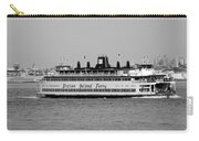 Staten Island Ferry In Black And White Carry-all Pouch