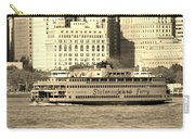 Staten Island Ferry In Sepia Carry-all Pouch