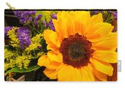 Statice And Sunflower Carry-all Pouch