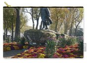 Statue And Flower Bed Across The Street From The Grand Palais Off Of Champs Elysees Carry-all Pouch