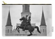 Statue Of Andrew Jackson In Black And White Carry-all Pouch