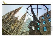 Statue Of Atlas Facing St.patrick's Cathedral Carry-all Pouch