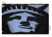 Statue Of Liberty In Dark Cyan Carry-all Pouch
