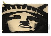 Statue Of Liberty In Dark Sepia Carry-all Pouch