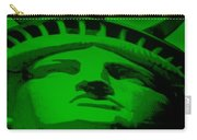 Statue Of Liberty In Green Carry-all Pouch