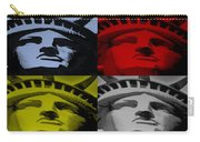 Statue Of Liberty In Quad Colors Carry-all Pouch