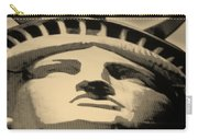 Statue Of Liberty In Sepia Carry-all Pouch