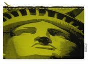 Statue Of Liberty In Yellow Carry-all Pouch by Rob Hans