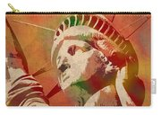 Statue Of Liberty Watercolor Portrait No 1 Carry-all Pouch