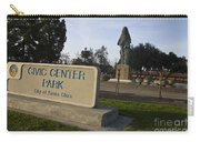 Statue Of Saint Clare Civic Center Park Carry-all Pouch